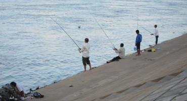 Fishing The Mekong River - Phnom Penh, Cambodia