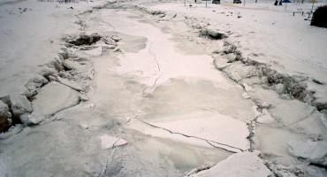 Ice Cracking – Magadan, Russia