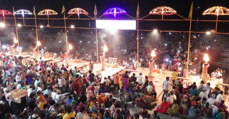 Ceremony at Ganges River – Varanasi, India