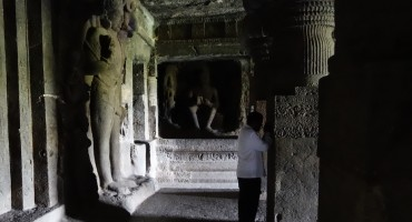 Chanting – Ellora Caves, India