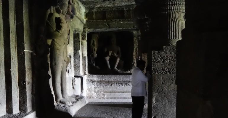 Chanting – Ellora Caves, India