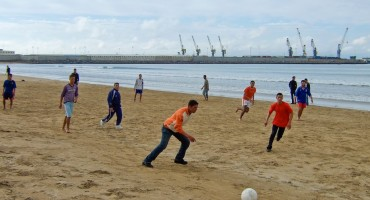 Beach Football - Tangier, Morocco