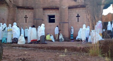Rock-Hewn Church Ceremony - Lalibela, Ethiopia