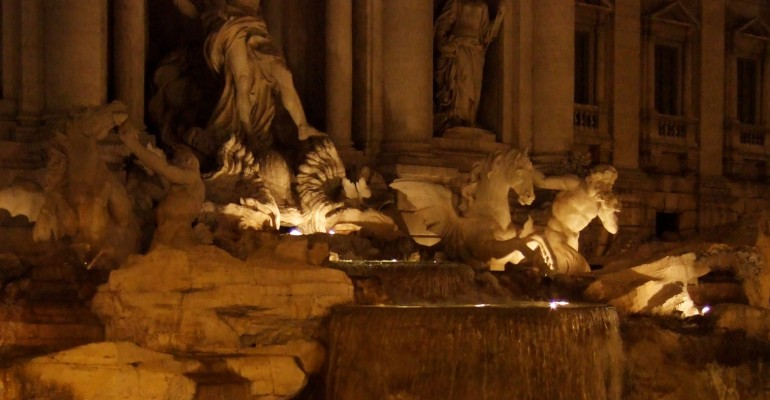 Trevi Fountain at Night – Rome, Italy
