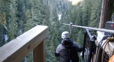 Winter Zipline – Whistler, Canada