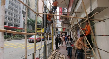 Bamboo Scaffolding Assembly – Hong Kong, China