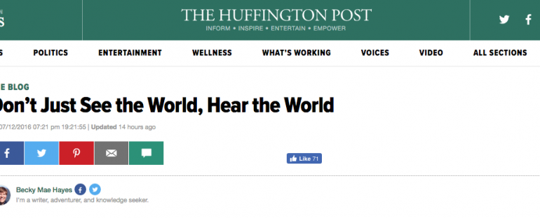 Huffington Post Features The Touch of Sound