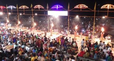 Ceremony at Ganges River - Varanasi, India