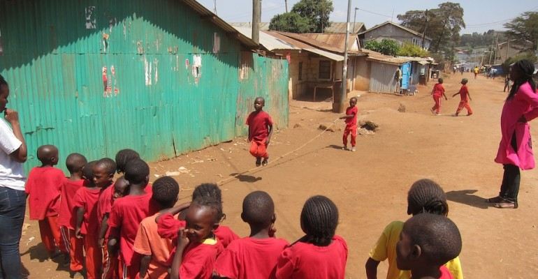 Kids Playing Jump Rope – Nairobi, Kenya