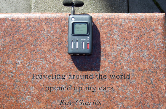 """Traveling around the world opened up my ears."" - Ray Charles"